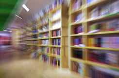 Books. On shelves in a library book store royalty free illustration