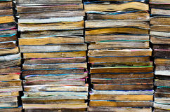 The books. Group of old dirty book Stock Photography