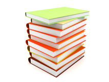 Books. Lots of different books rendered on a white background Stock Photography