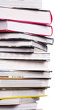 Books. In pile on white background Stock Photos