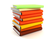 Books. Lots of different books rendered on a white background Royalty Free Stock Images