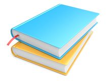 Books. Colorful books on white background. 3d image Royalty Free Stock Photo