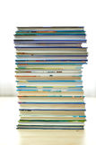 Books. Piles of books on white background Royalty Free Stock Photos