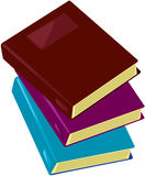 Books. Illustration of isolated stack of books on white stock illustration