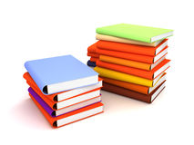 Books. Lots of different books rendered on a white background Royalty Free Stock Photos