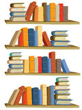 Books. Collection of colorful books on white background Royalty Free Stock Photo