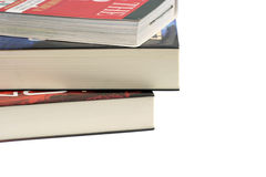 Books. Stack of books isolated on white Stock Photos