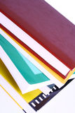 Books. Color pile books isolated over white background royalty free stock photo