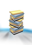 Books. Isolated books stack on blured background Stock Photo