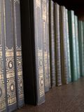 Books. A shelf of old books royalty free stock photography
