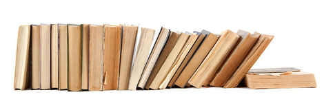 Books. Stacked in a pile. Old, tattered Stock Image