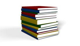 Books. The books on white background Royalty Free Stock Photo