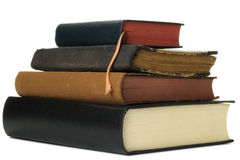 Books. A pile of books on white Royalty Free Stock Image
