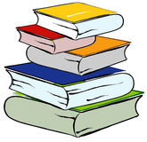 Books. Are combined by hill on surface, library of knowledge, illustration Stock Photography