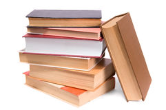 Books. Pile of books isolated on white Royalty Free Stock Images