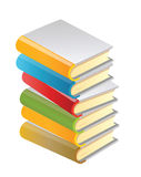 Books. Vector illustration. The stack of books Stock Image
