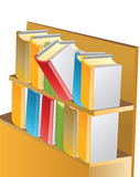 Books. Vector illustration. The stack of books Royalty Free Stock Photography