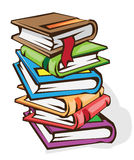 Books. Vector illustration. The stack of books stock illustration
