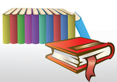 Books. Vector illustration,stack of books Stock Photo