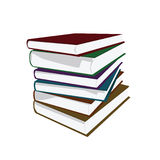 Books. Vector illustration of a pile of hardcover books Royalty Free Stock Image