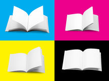 Books. CMYK concept Books with clipping path (Large size