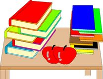 Books. Vector illustration of colorful books royalty free illustration