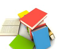 Books. Isolated on white background - 3d render Royalty Free Stock Image