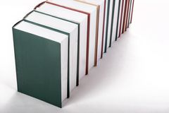 Books. On a white shelf Royalty Free Stock Images