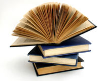 Books. Four old books on white background Royalty Free Stock Images