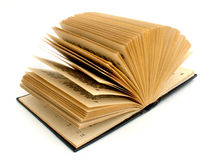 Books. An old open book on white background Royalty Free Stock Photography