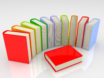 Books. Colorful books on white background Royalty Free Stock Photo