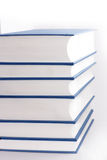Books. Tower of blue books, background royalty free stock photography