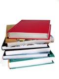 Books. On white background Stock Image