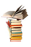 Books. Stack on white royalty free stock photo