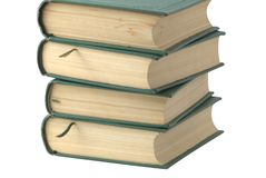 Books. With green cover isolated over white Stock Photo