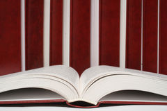 Books. Many books on the white Royalty Free Stock Images