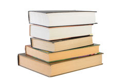 Books. Isolated books on white background with clipping path Stock Images