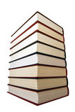 Books. Colored books each other white bacground isolate Royalty Free Stock Photo