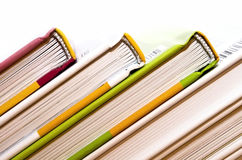 Books. Colored books each other bust Royalty Free Stock Image