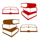 Books. Set, collection color symbols Books Royalty Free Stock Photography