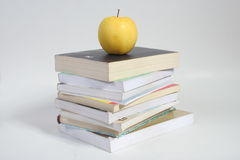 Books. And apple Royalty Free Stock Photography