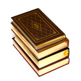 Books. Stack of leather bound books on isolated white background Stock Photography