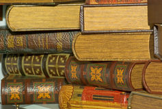 Books. The ancient books in leather reliure Stock Photo