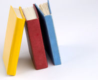 Books. Isolated books stack on the desk royalty free stock images