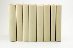 Books. Row of books with empty covers on white background royalty free stock image