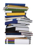 Books. Stack of books isolated white backgorund stock illustration