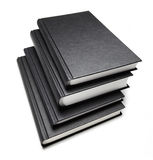 Books. Black books isolated with shadow Stock Image
