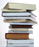 Books. Tower from books and Writing-book Stock Images
