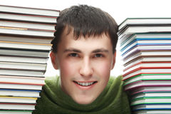 With books Royalty Free Stock Image
