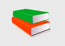 Pair of books on white background. An illustration of a pair of colorful books on a white background Royalty Free Stock Photos
